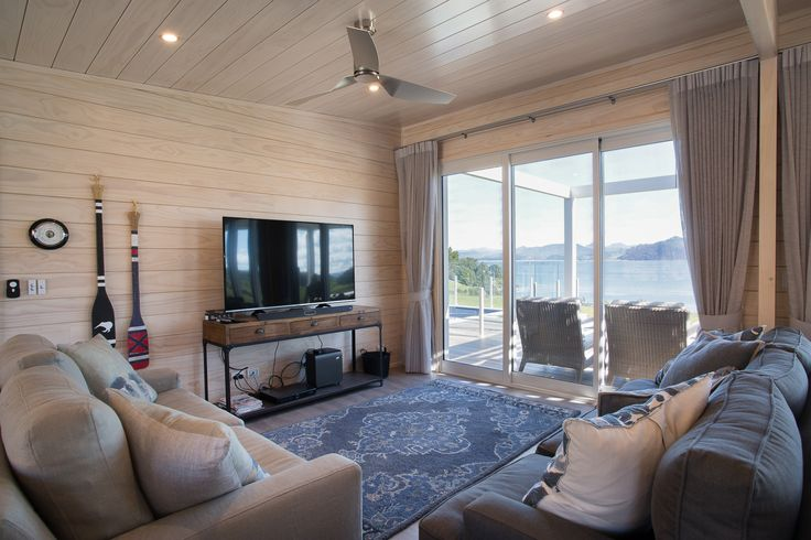 Knot free pine was used in this Lockwood Verandah Plan delivering an ultra scandi blonded finish perfect for the beach