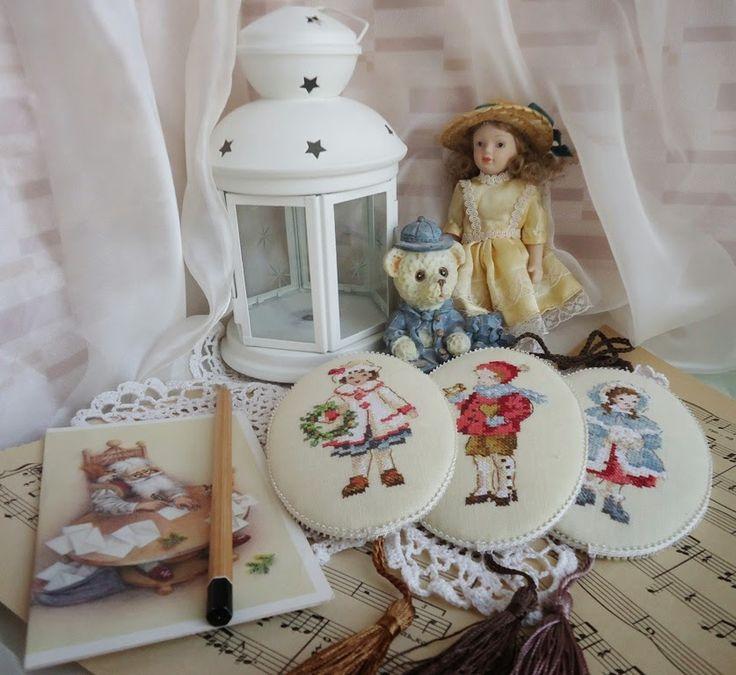 Уютный дом от Юлии Архиповой: Винтажные елочные украшения с вышивкой