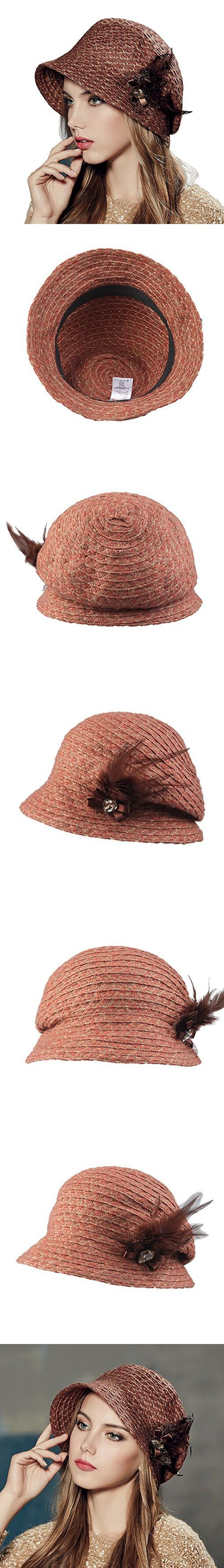Kenmont Autumn Winter Women Beret Hat Lady Outdoor Acrylic Bucket Cap (Orange)