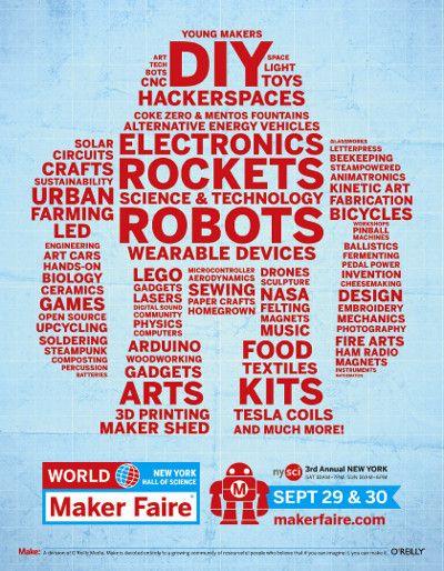 Brochure for Maker Faire