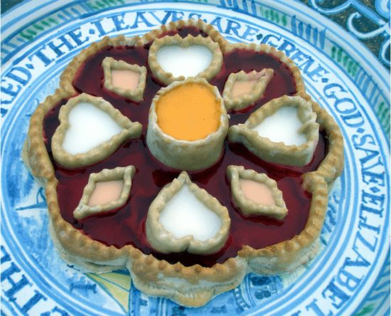 William Rabisha's Set Tart 1673 - Elizabethan jelly tart