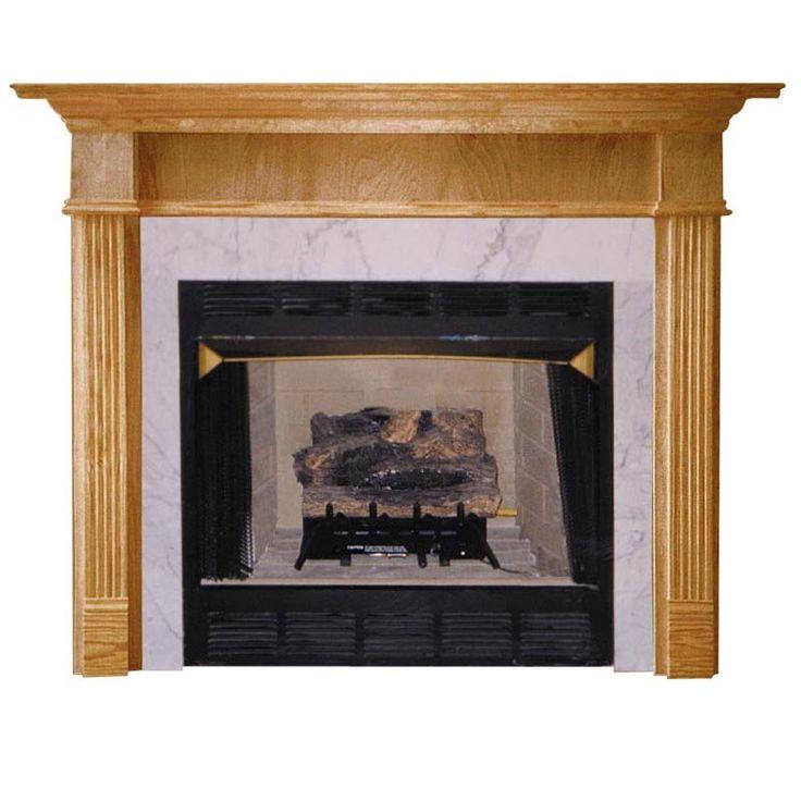 Wood Fireplace Mantel Surround Part - 29: Agee Woodworks Jefferson Wood Fireplace Mantel Surround - JEFFERSON4840BIRCH