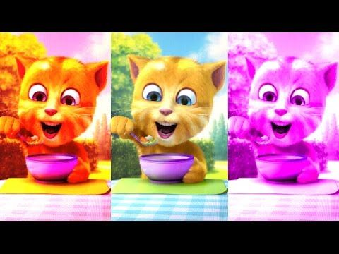 Baby Learn Colors with My Talking Ginger Colours for Kids Animation Education Cartoon Compilation - YouTube
