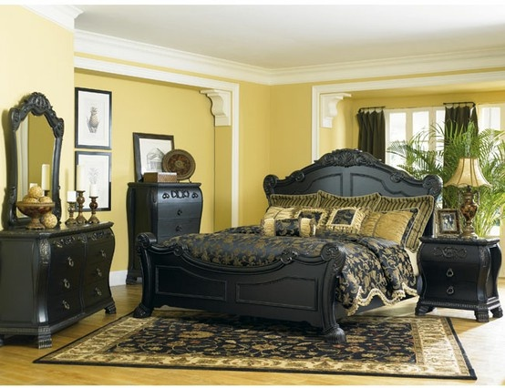 26 best My black bedroom furniture w/ what color walls? images on ...
