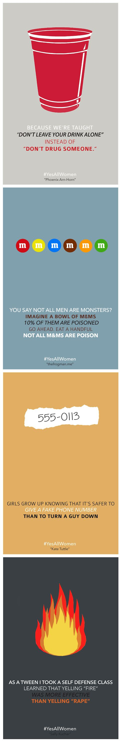All women can relate, and even one is far too many. #Yesallwomen