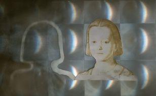 Innocence IV., assemblage, 32 x 43 cm, 2006