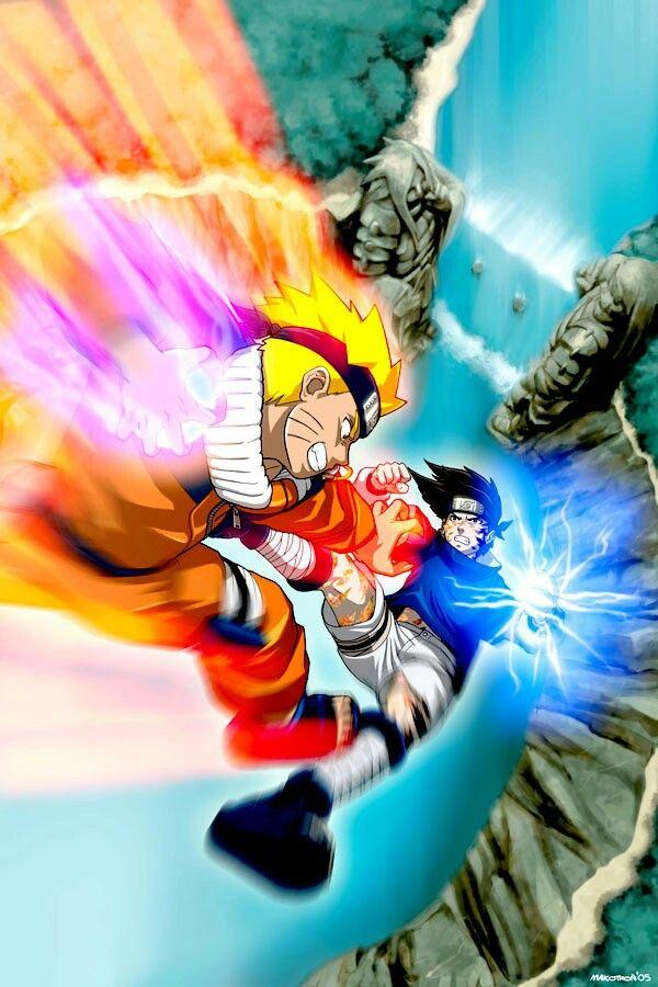 Naruto and Sasuke / Naruto (Day 41: Most Memorable Anime Rivalry)