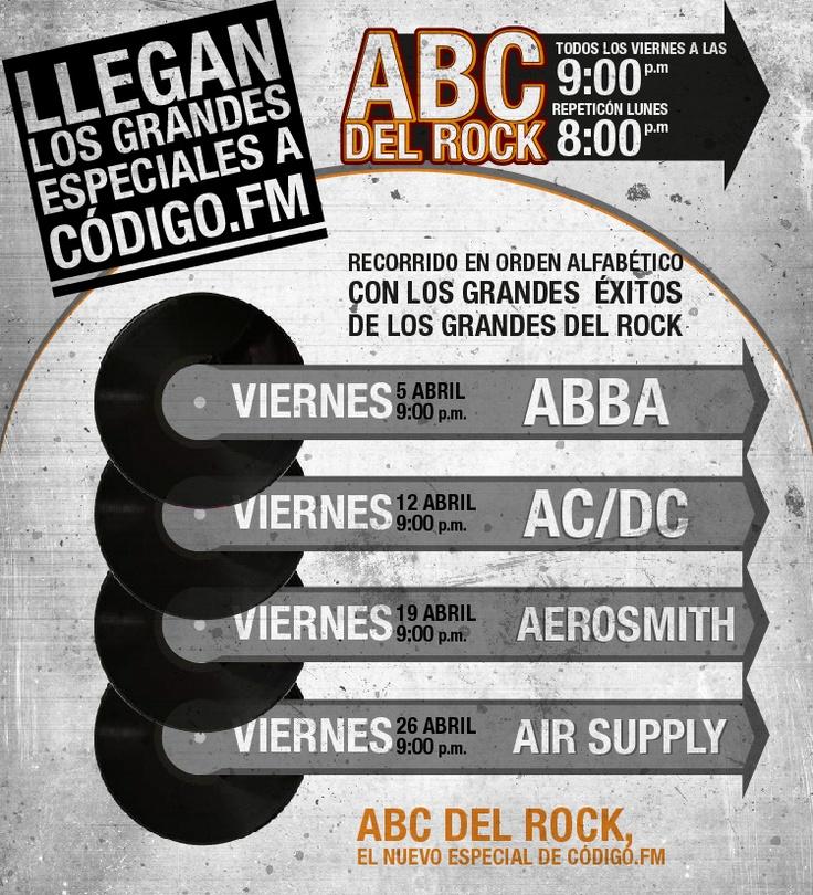 En abril súper especiales con Abba, AC/DC, Aerosmith, Air Supply