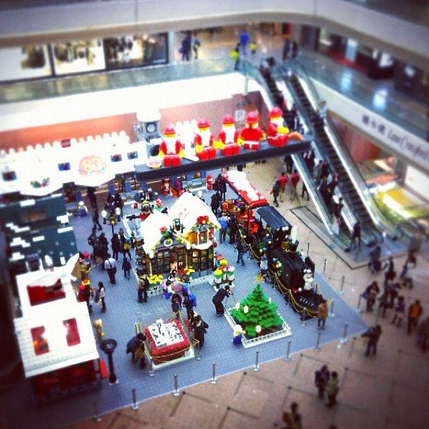 Lego exhibition at Times Square HK
