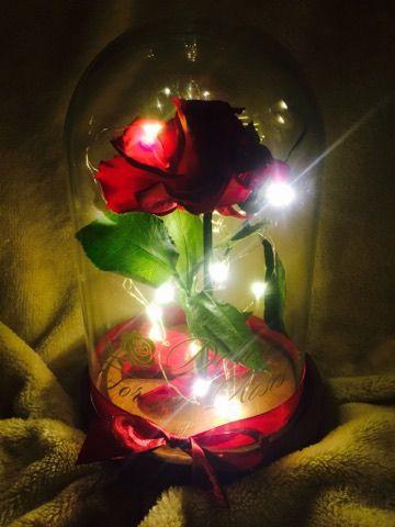 Deluxe Forever roses Örök rózsa világító üvegbúrában:18.900Ft
