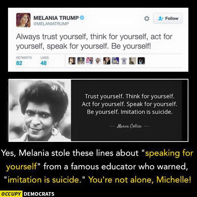 Funniest Memes Mocking Melania Trump's Plagiarized GOP Convention Speech: Imitation