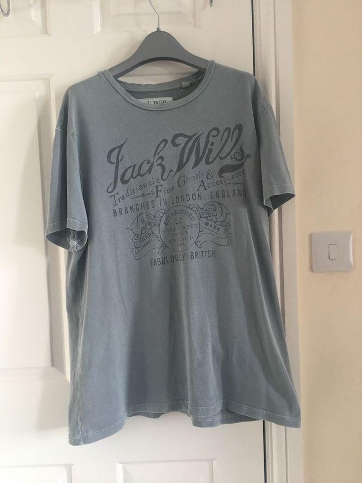 Jack Wills Grey Mens T-shirt Large  #ebay #selling #clothing #apparel #ebayseller