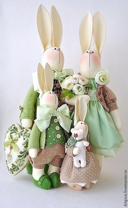 Игрушки животные, ручной работы. Ярмарка Мастеров - ручная работа Семейство кроликов. Handmade.