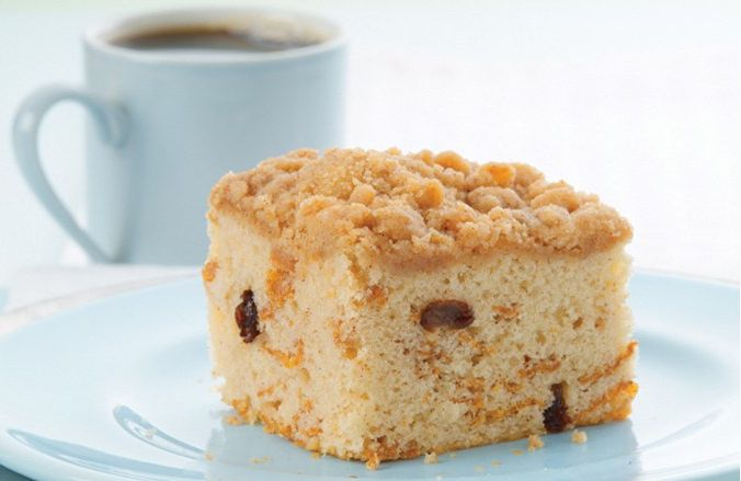 -Sour Cream #Coffee Cake. Top with fresh blueberries and strawberries ...