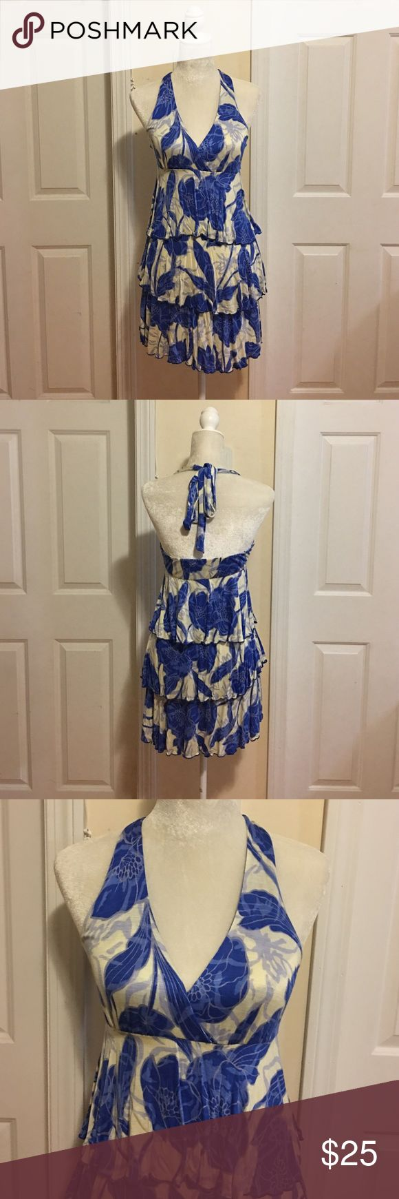 NWOT Gabriella Rocha Print Halter Dress. NWOT Cute Halter Dress with layers of ruffles. No size indicated but fitted like a small. 100 Rayon. New, never worn. Gabriella Rocha Dresses