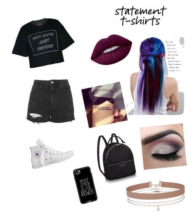 """e7aa1dca26dc061ddb2896fcbb79a3a1 - """"statement t-shirt"""" by alliemhorton ❤ liked on Polyvore featuring Manic Panic ..."""