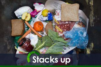 Food waste figure stacks up