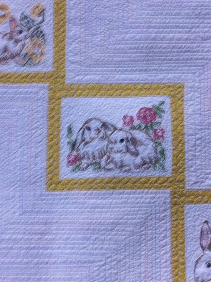 Baby quilt quilted with Babylock Tiara featuring Sew Swell machine embroidery designs.