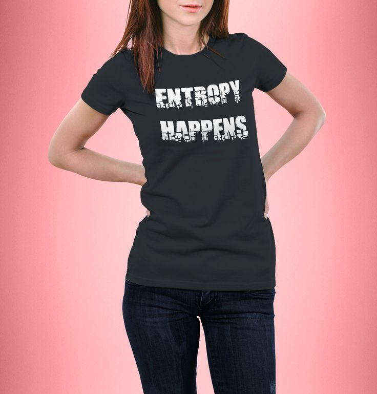 New to CrazyPugPrints on Etsy: Entropy Happens - The Flash - T-Shirt - Women Fitted - Geek (10.00 GBP)