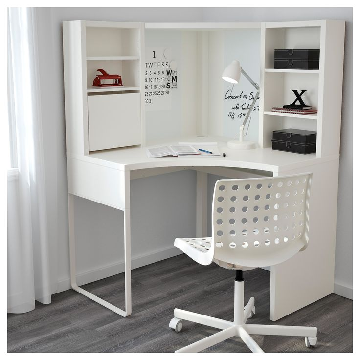 White Corner Workstation Desk - Desk Wall Art Ideas Check more at http://www.gameintown.com/white-corner-workstation-desk/