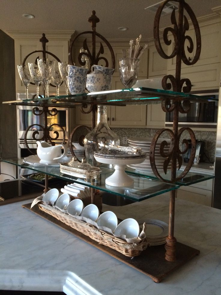 91 best etagere bistro images on pinterest glass shelves for Dining room etagere