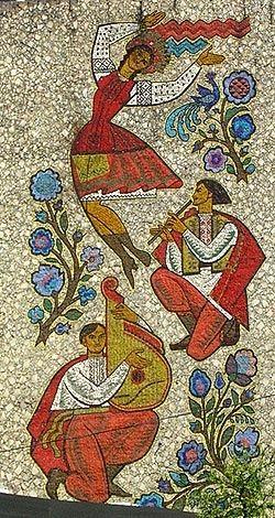 GRAFFITIZONE • Советская мозаика Киев, ул. Б.Хмельницкого