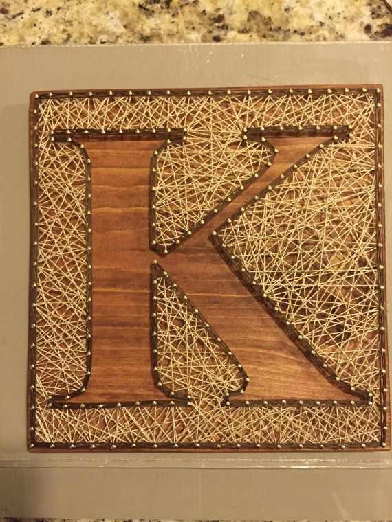Custom Letter Art Inverse String Art Inverse by ShopAmbiguouS