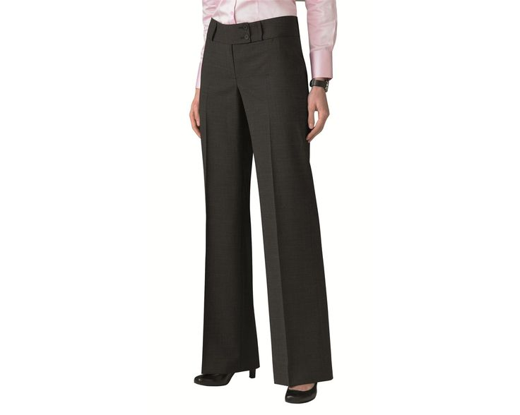 These E5LT4 Endurance Brompton Ladies Corporate Trousers feature flared bottoms and a cash pocket.