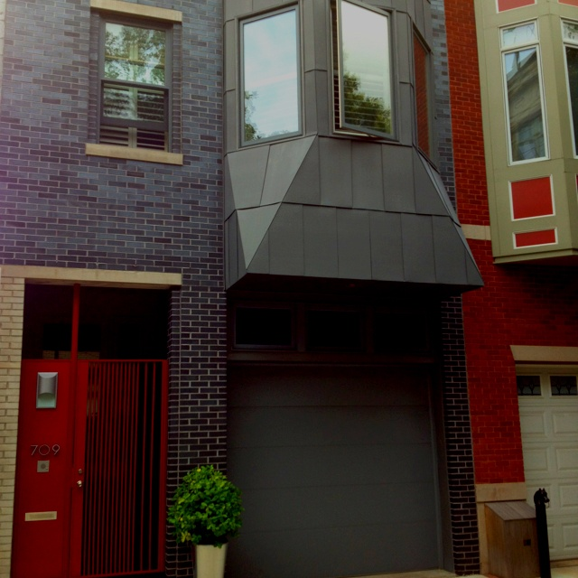 Modern Gray Exterior With Steel Beams: 48 Best Images About Row House Exterior On Pinterest