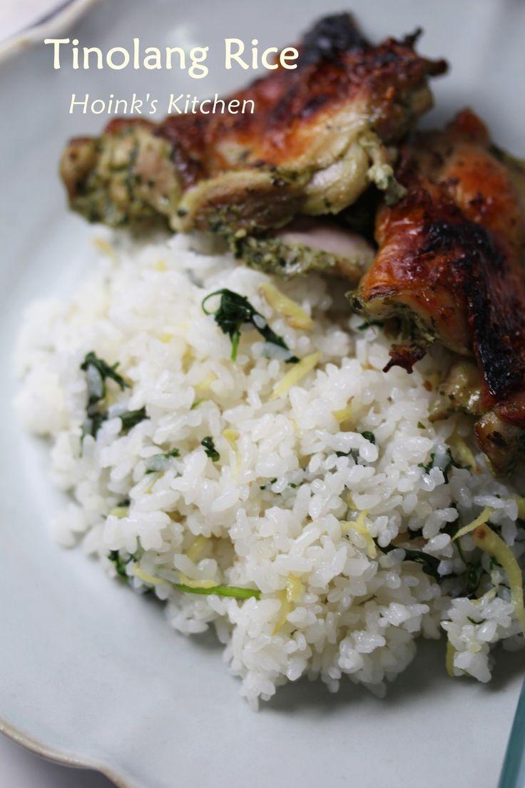 フィリピンの味★生姜のピラフ★        生姜の香りで炊いたご飯に炒めた青菜や香菜を混ぜたピラフです。そのままでも美味しいですがアジアンなおかずとも合います。    材料 (3~4人分) 米 2合 *水 360cc *鶏がらスープの素 大さじ1 *生姜 (大きめ)1片 *塩 ※コツ・ポイント参照 小さじ1/3~1/2 青菜の葉の部分(小松菜、空芯菜などお好きなもの) 又は生の香菜(パクチー) 50g サラダ油 大さじ1