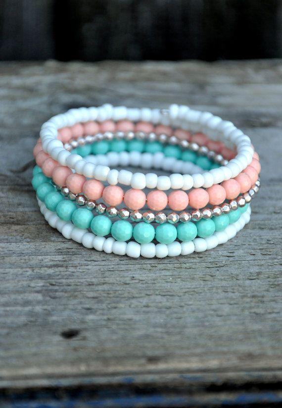 Boho Wrap Bracelet Candy Crush by HoleInHerStocking on Etsy