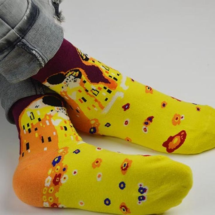 Fashion Painting Art Men Women Socks Funny Novelty Starry Night Vintage Retro