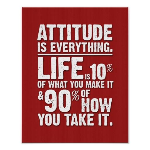 @@@Karri Best price          Attitude is Everything Poster - Red…