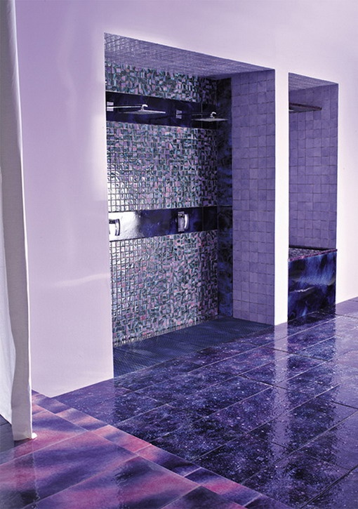 1000 images about purple bathrooms on pinterest the for Purple bathroom tiles ideas