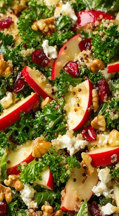 Autumn kale apple quinoa salad                                                                                                                                                                                 More