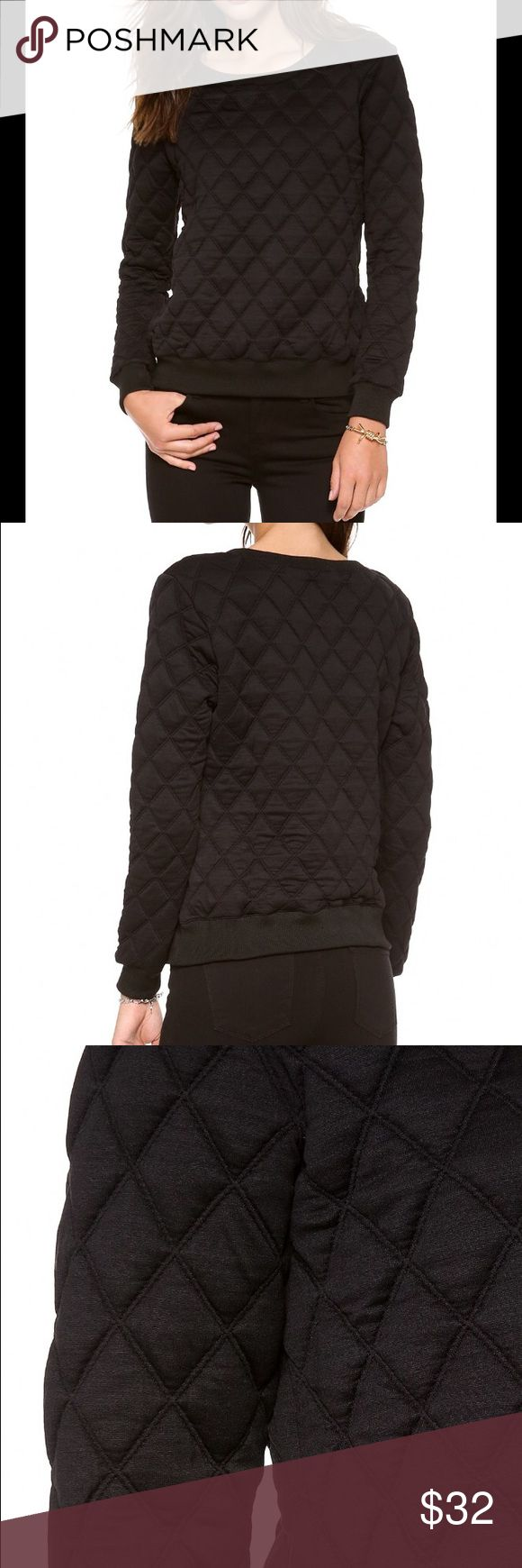 Rory Beca 'Bragg' quilted sweatshirt in black Worn just once. Too large for me (I generally wear XS). Pristine condition. Rory Beca Tops Sweatshirts & Hoodies