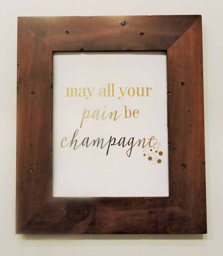 May all your pain be champagne gold foil print by ThePaperExchange on Etsy https://www.etsy.com/listing/253935142/may-all-your-pain-be-champagne-gold-foil