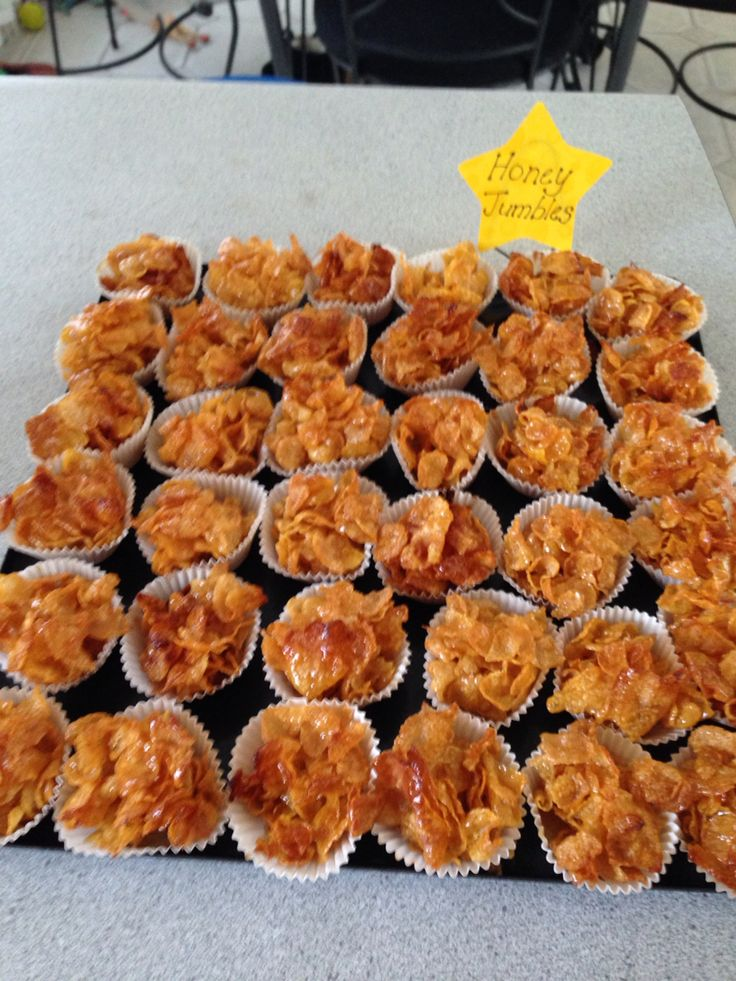 Honey Jumbles made with cornflakes