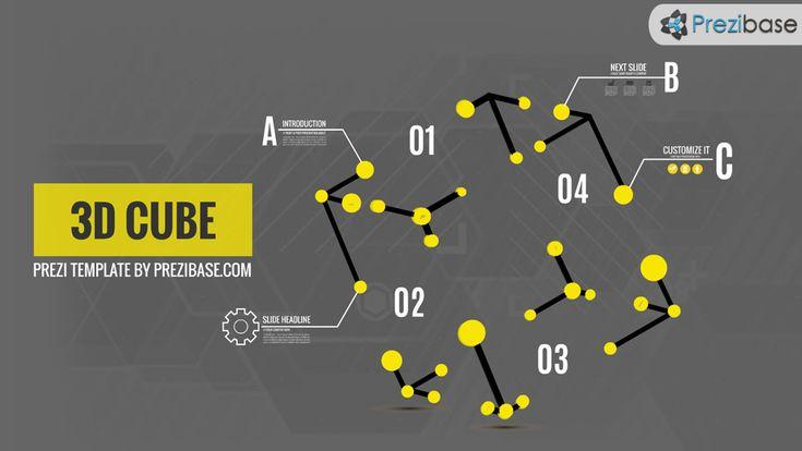 3D business technology cube prezi presentation template