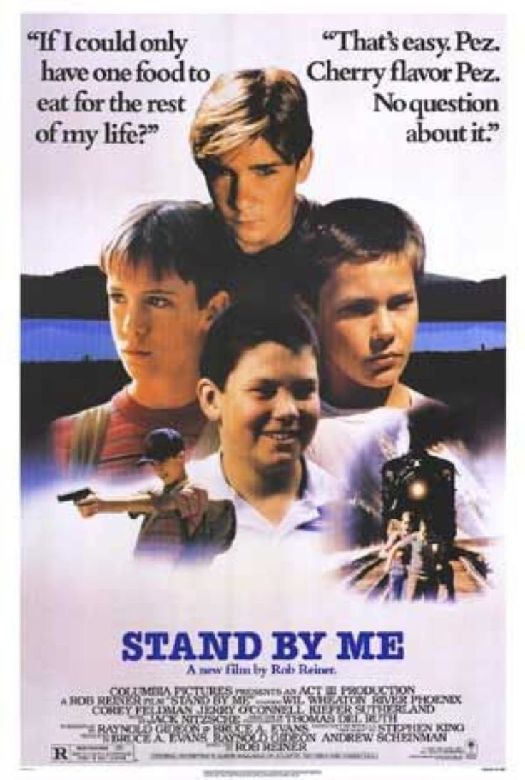 Stand By Me.Film, Great Movie, Stephen King, Families Movie, Rivers Phoenix, Favorite Movie, Stands By Me, Old Movie, Steven King