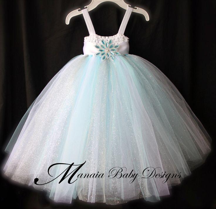 Christmas Tutu Dress / Snow Princess Winter Tutu Dress / Snowflake Holiday Tutu Dress. $29.00, via Etsy.