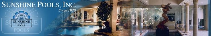 Sunshine Pools Inc  Houston Texas Premier Custom Swimming Pool Builder Since 1978  1800 Augusta Dr, Suite 140 Houston 77057  713 975 8899