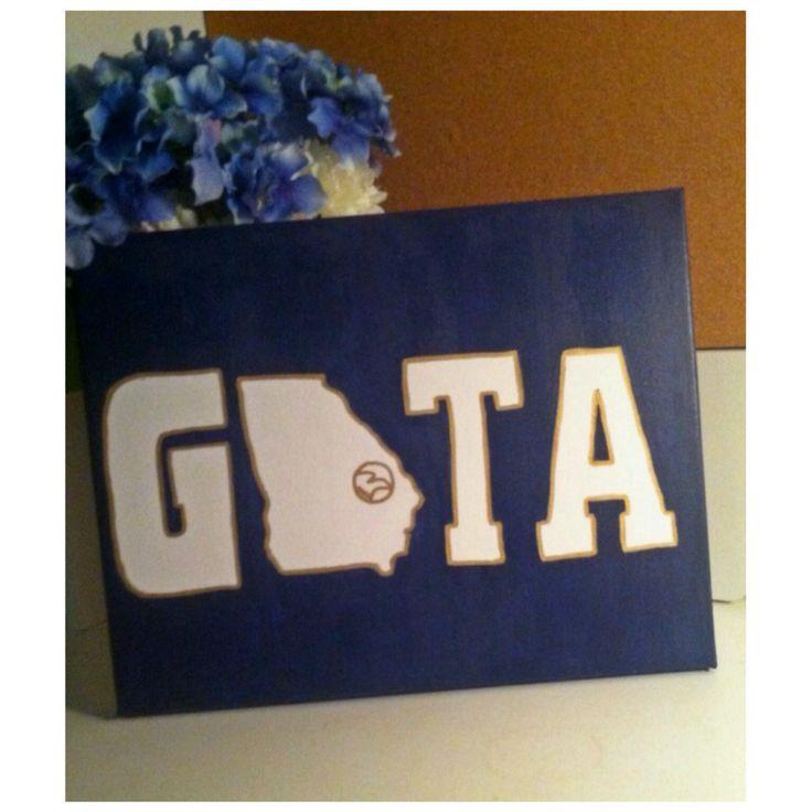 Georgia Southern University canvas #GATA #HailSouthern #TrueBlue