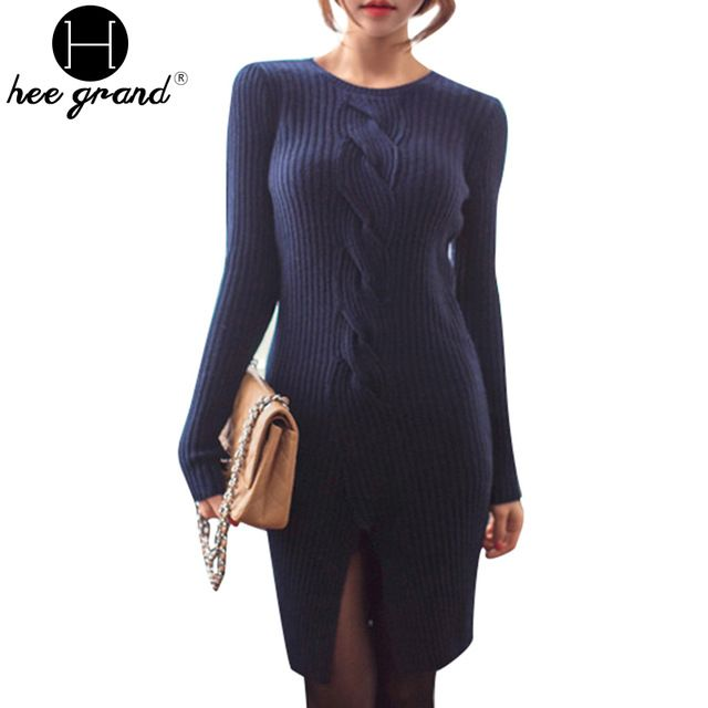 Women Mini Knitted Dress