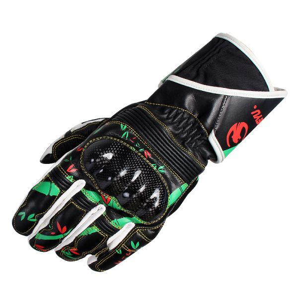 Universal Skidproof Printed Full Finger Leather Gloves For Biking Racing Cycling