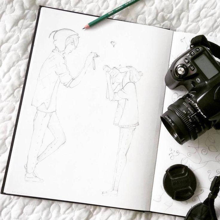 """""""Fotografować to znaczy wstrzymać oddech, uruchamiając wszystkie nasze zdolności w obliczu ulotnej rzeczywistości"""" (Henri Cartier - Bresson). 19.08.2017 - Światowy Dzień Fotografii :)  #fotografia #foto #zdjęcie #aparat #camera #lustrzanka #nikon #obrazek #rysunek #draw #drawing #image #picture #swiatowydzienfotografii #instagram #lubietworzyc"""