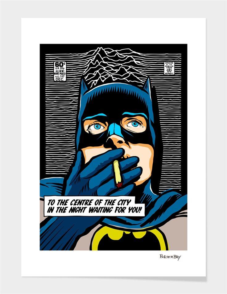 «PostPunk Bat» Art Print by Butcher Billy Numbered