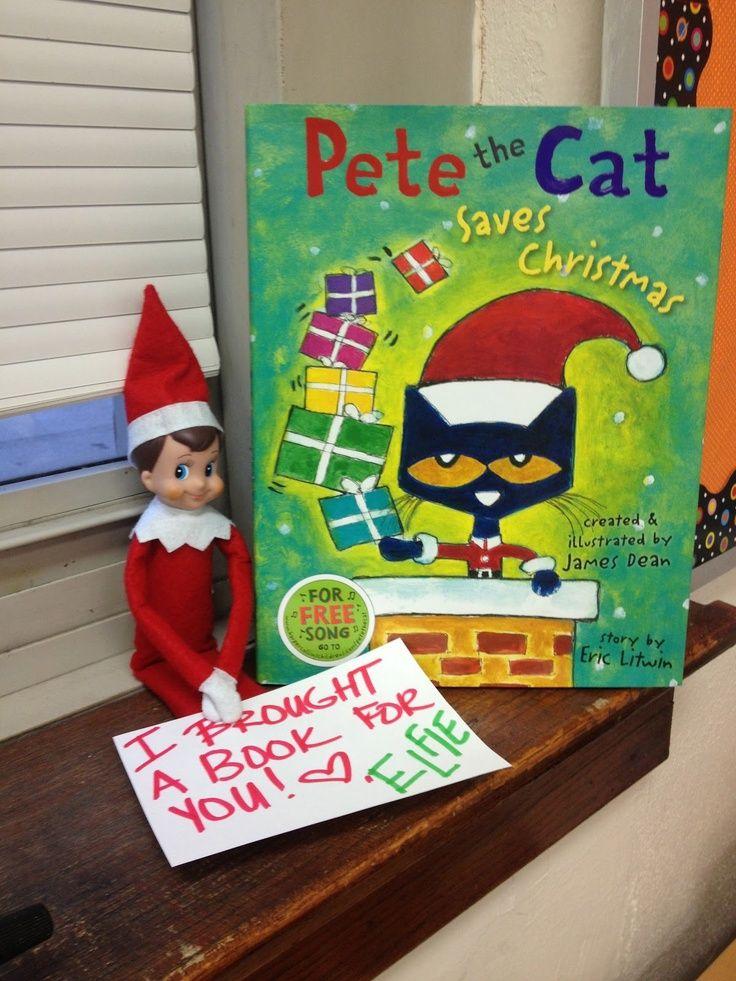 Santa loves to see children reading! Sometimes elves share their books to encourage reading. #ElfOnTheShelfIdeas