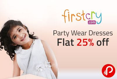 Firstcry is offering Flat 25% off on Party Wear Dresses on orders above Rs.750. New Range of dresses added. Firstcry Coupon Code – FC25CFF  http://www.paisebachaoindia.com/party-wear-dresses-flat-25-off-firstcry/