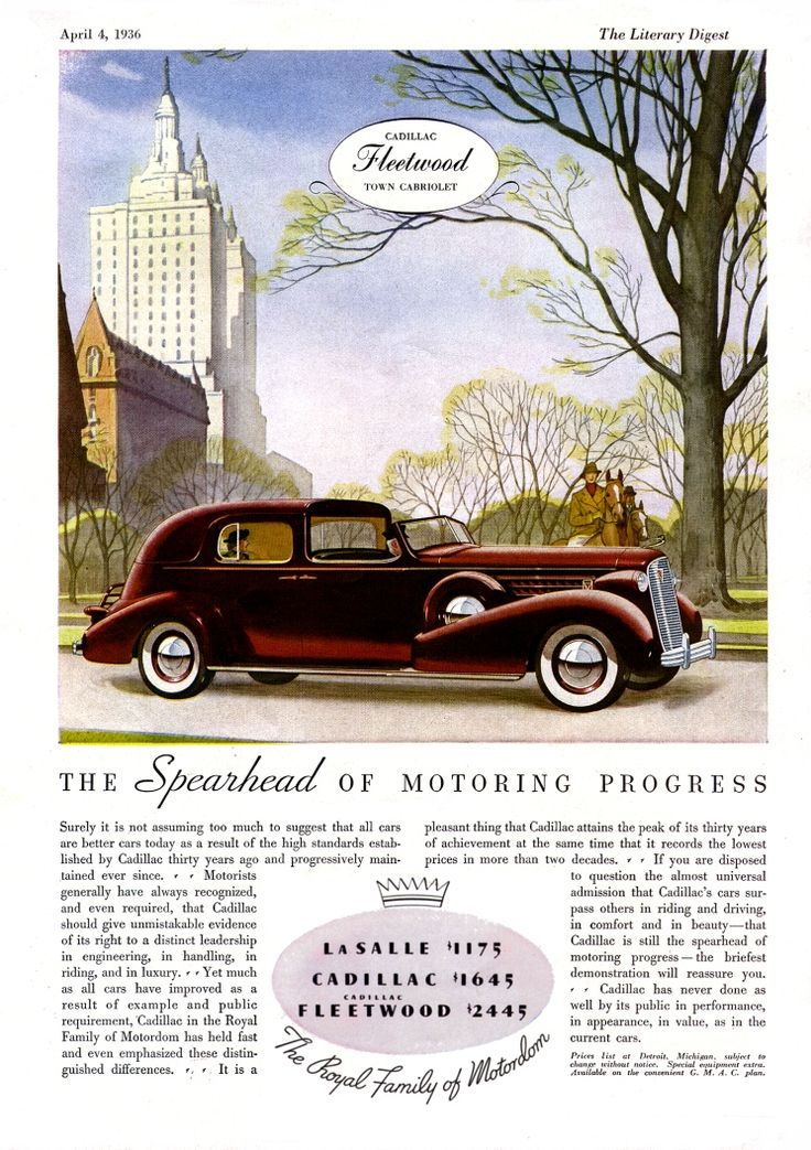 Best 19 1936 Cadillac Ads images on Pinterest | Cadillac, Cars and